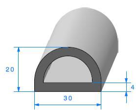 1 m Motif arêtes protection F 1,5 mm Joint En Caoutchouc Caoutchouc Profil 6810 de Berlin